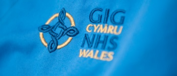 NHS logo on nurses uniform