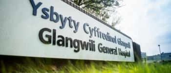 Glangwili Hospital sign