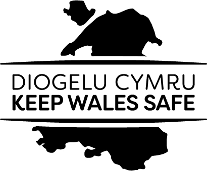 Keep Wales Safe COVID logo on Welsh map