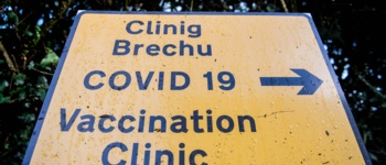 COVID-19 Vaccination clinic sign
