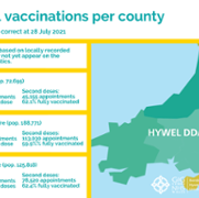 Total vaccinations per county - Issue 29