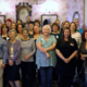 A group photo of the NHS Wales Library Service taken in 2019