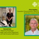 Two healthcare scientists, Hannah Hunt and Chris Hopkins