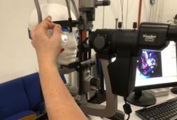 Optometry training dummy