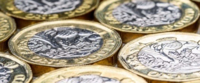 Closeup of coins