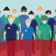 Drawing of NHS workers