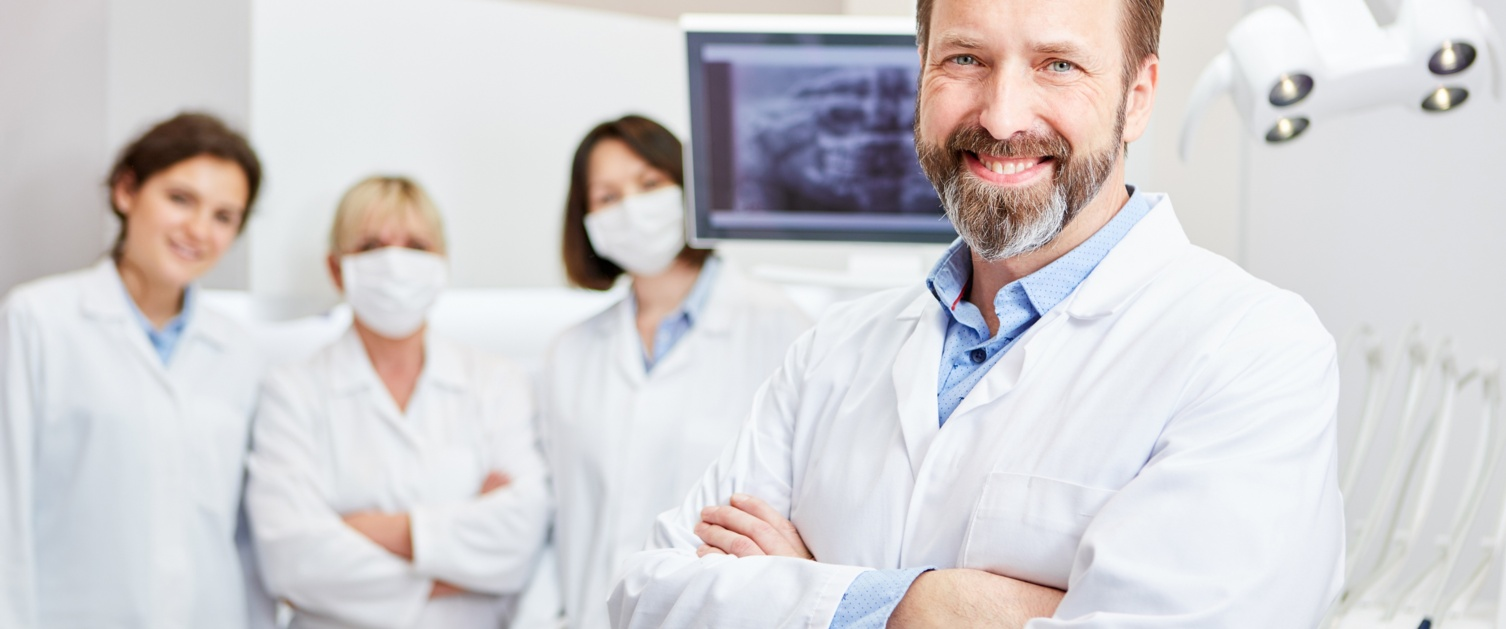 Group of dentists smiling