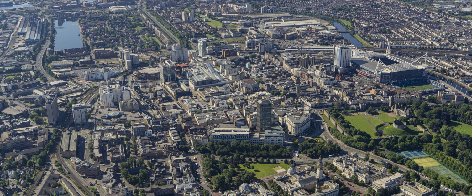 Top view of Cardiff