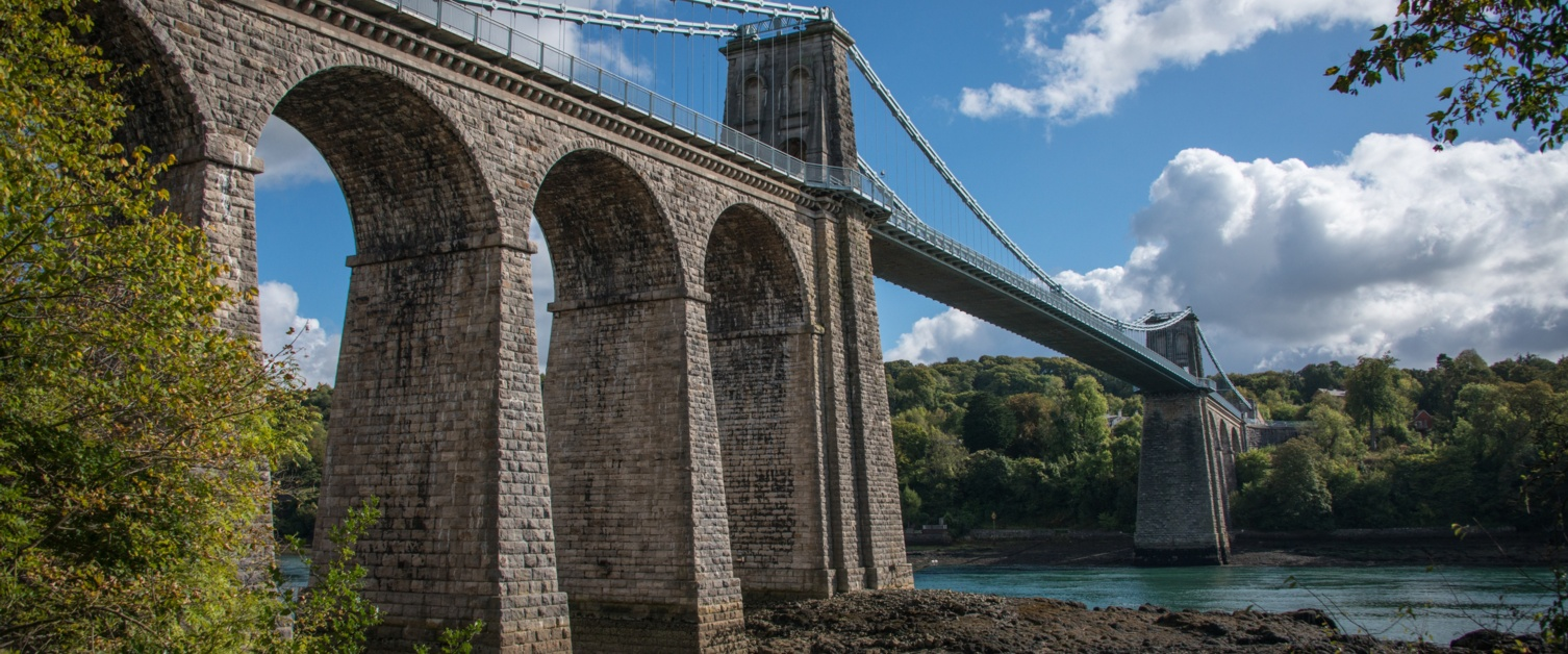 Britannia bridge in Bangor
