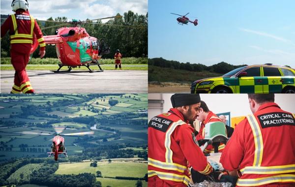 Air ambulance collage