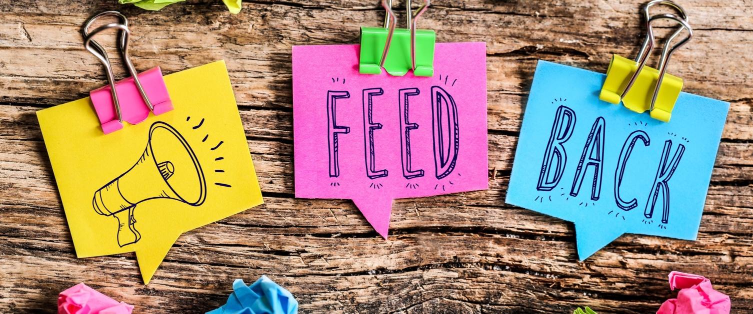 Post it note feedback