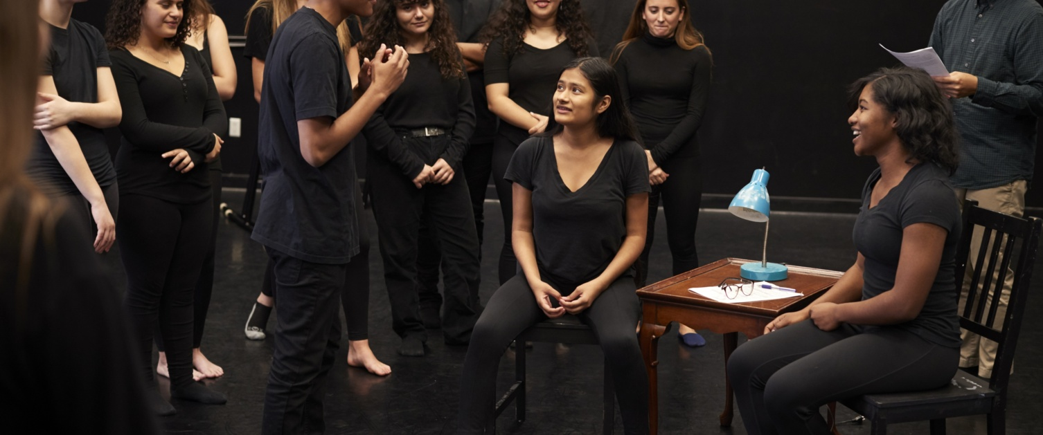 People taking part in drama therapy