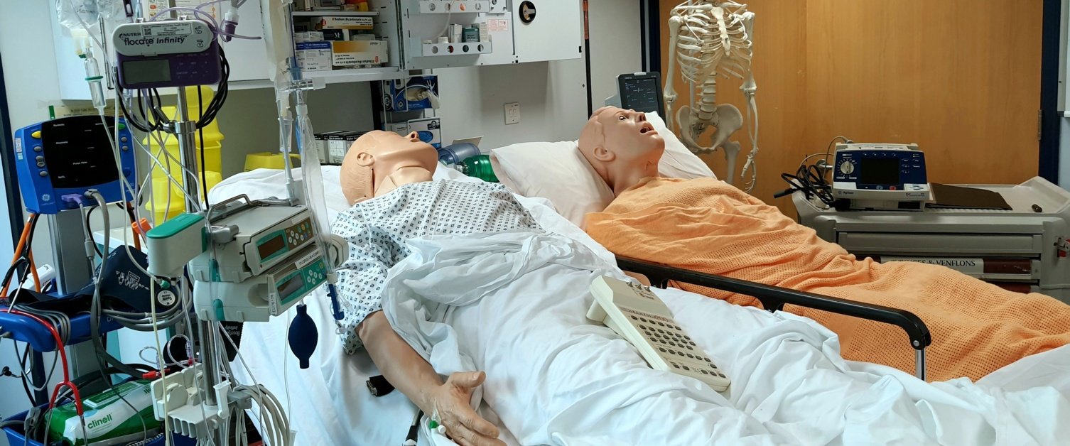 Simulation of two patients