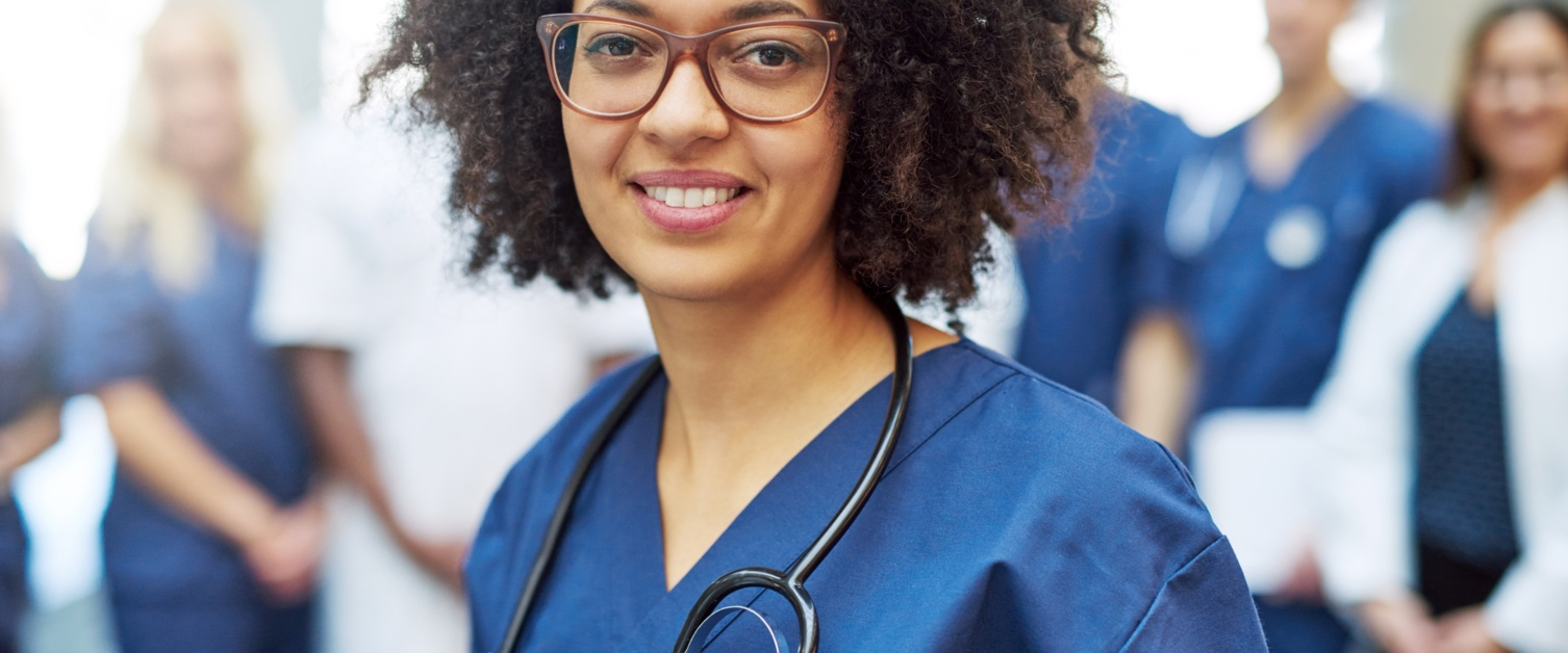 Young female doctor smiling