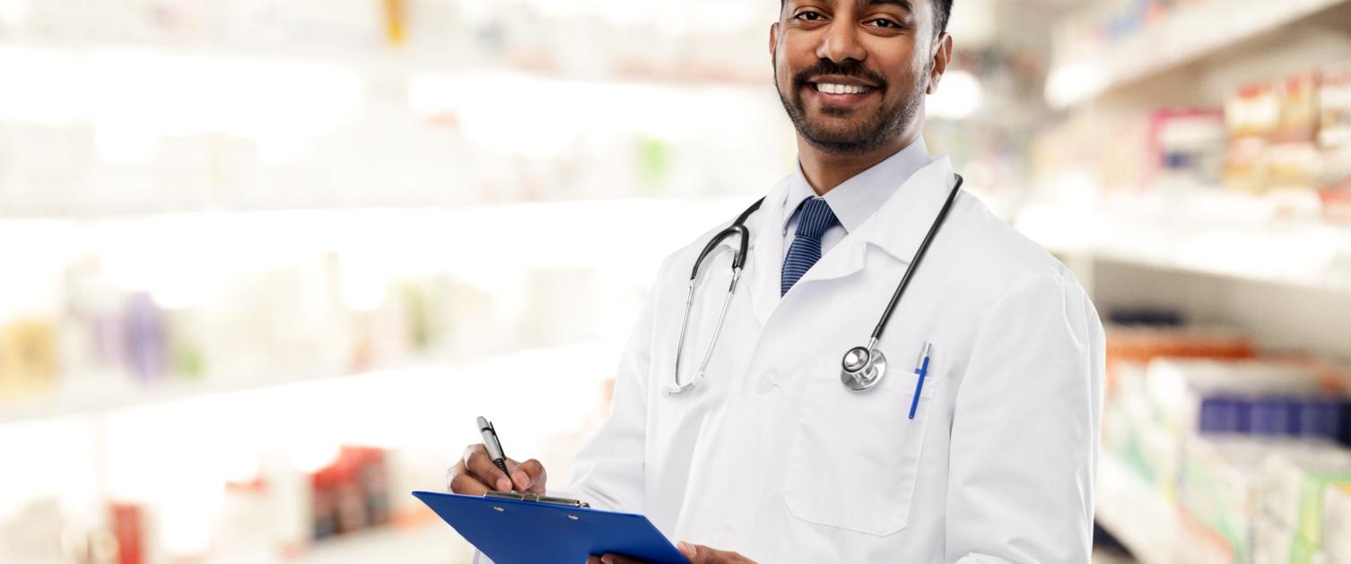Pharmacist in a pharmacy
