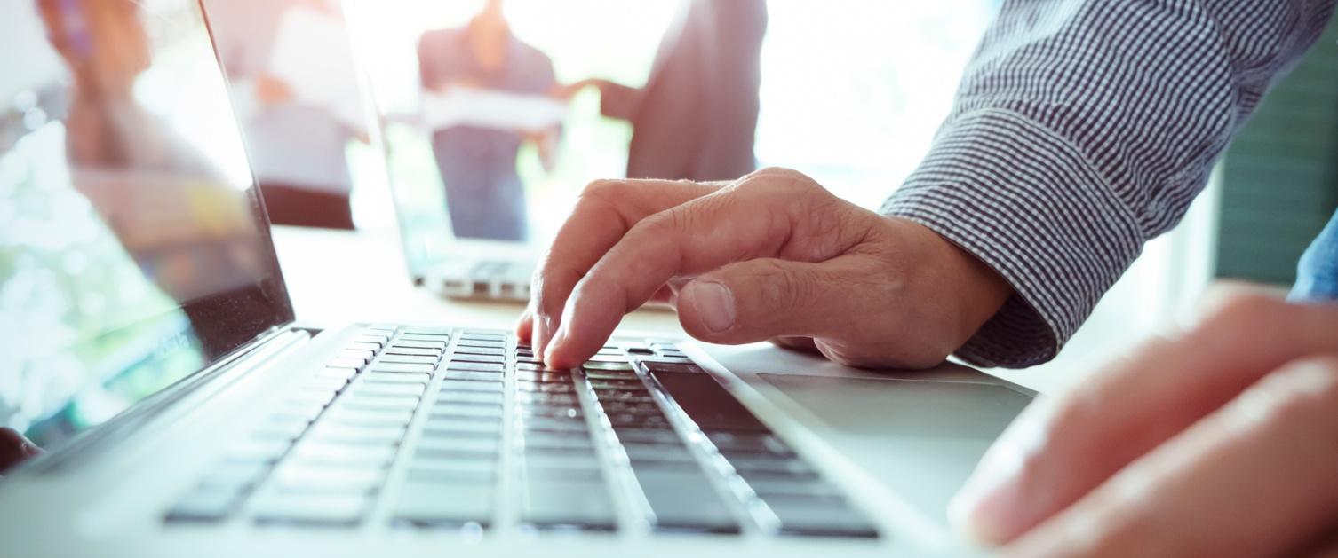 Closeup of a laptop