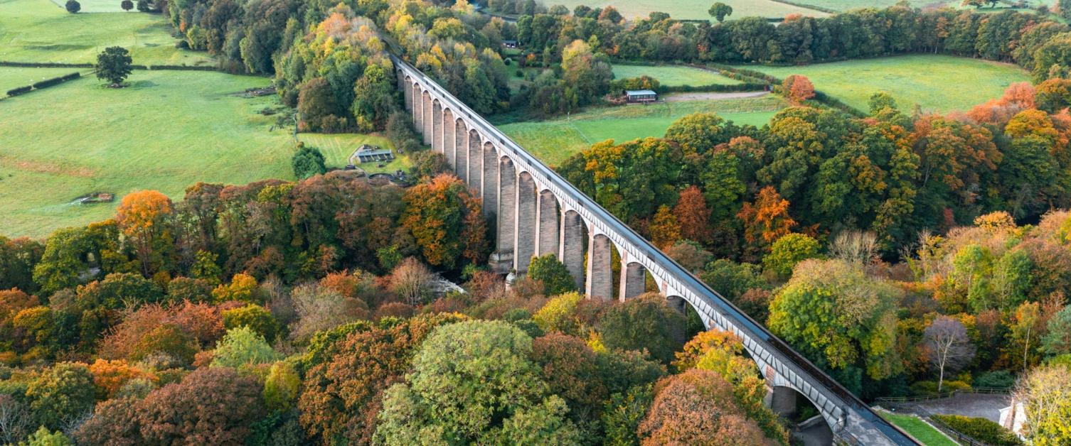 Top-view of the Wrexham aqueduct