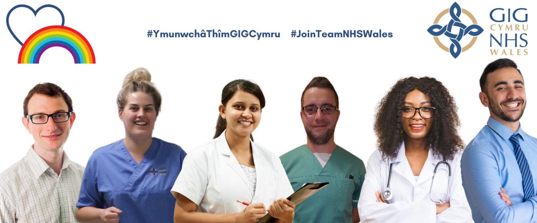 pobl sy'n weithio i GIG Cymru