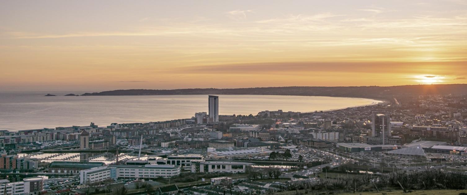 Landscape of Swansea Bay