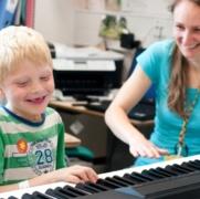 Music therapist Becca Sayers