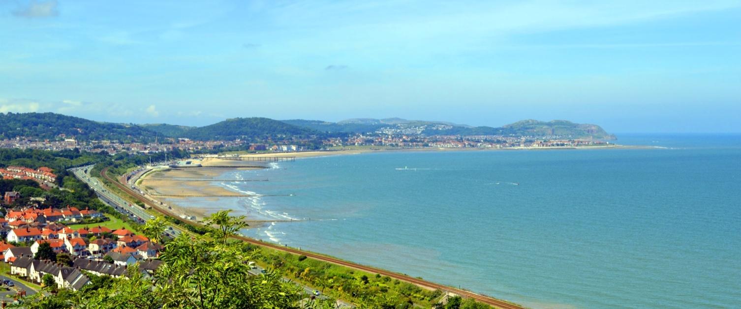 Sea view of Dyffryn Clwyd