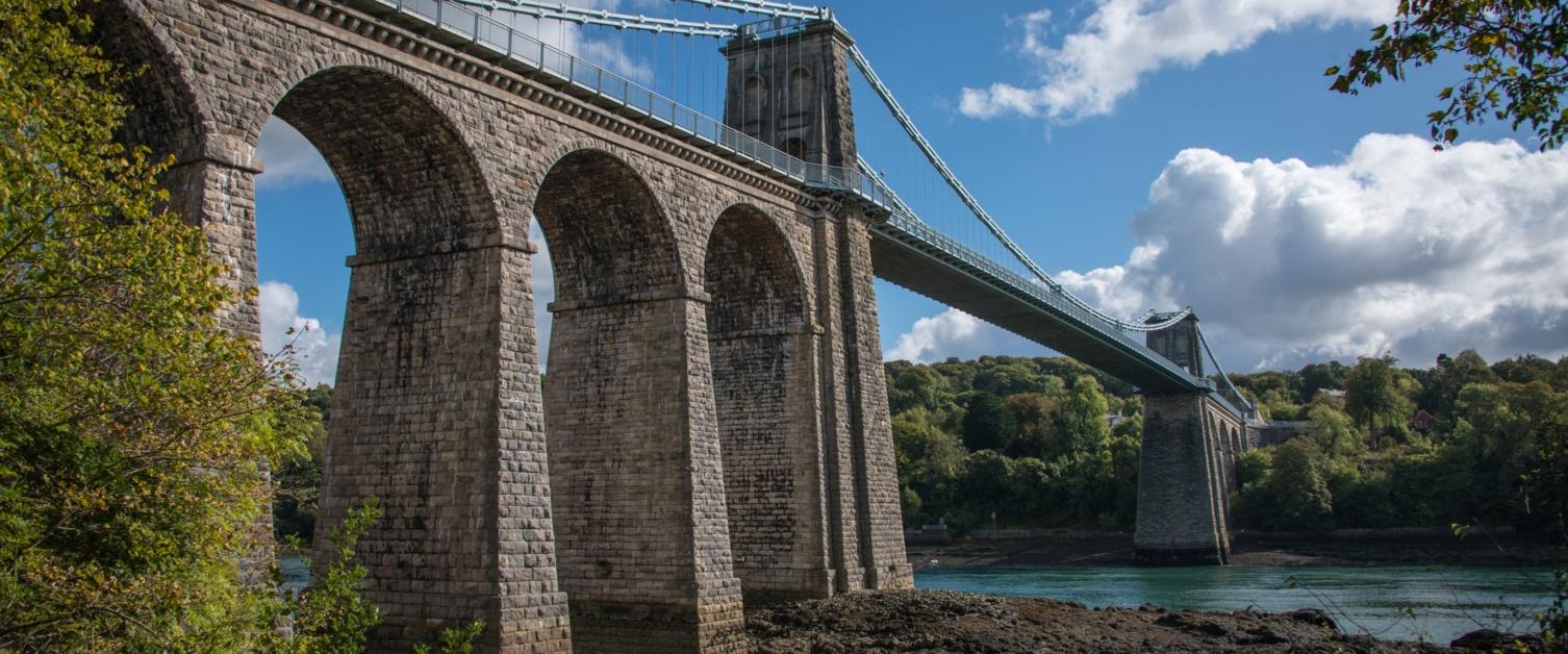 Britannia bridge in Bangor