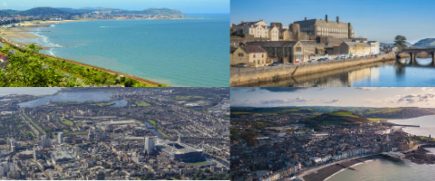 Collage of Welsh landscapes