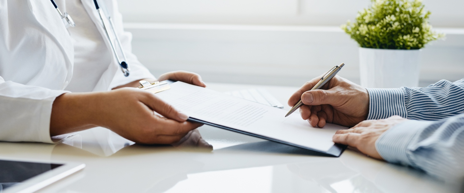 patient signing consent for treatment