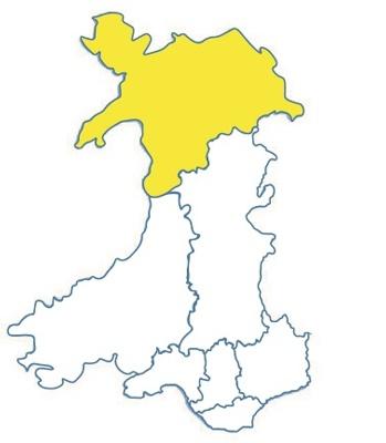 Wales area map bcu