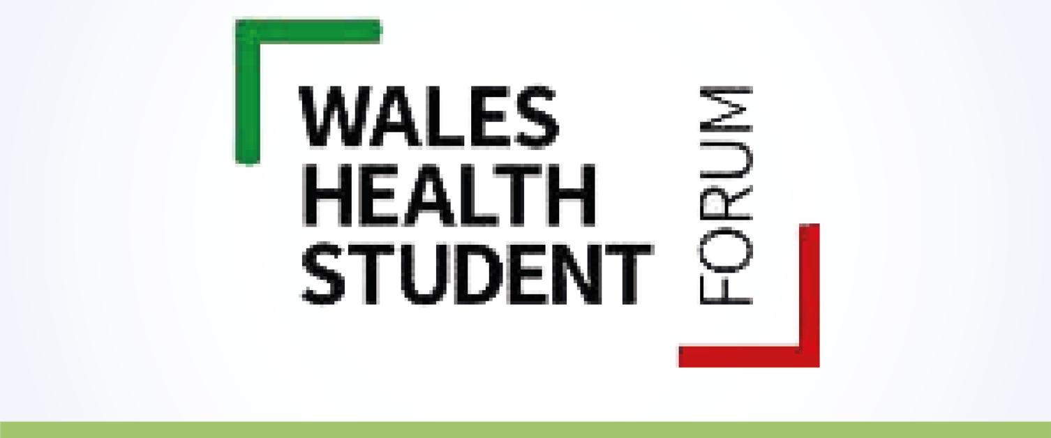 Logo fforwm myfyrwyr iechyd Cymru