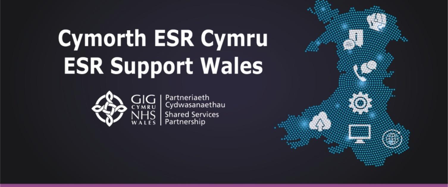 Graffeg Hwb Cymorth ESR Cymru
