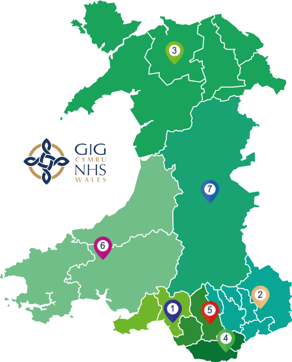 Health Board Map of Wales