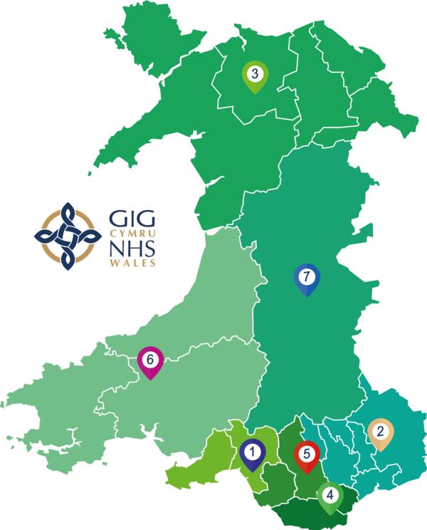 Health Board Map of Wales