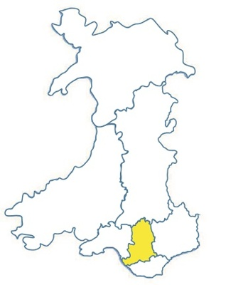 Wales area map CT