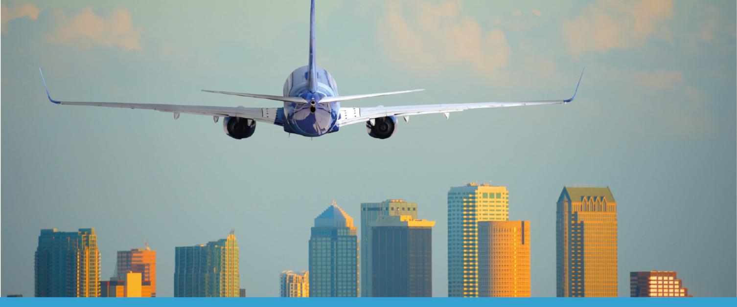 aeroplane landing in America