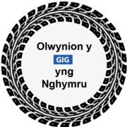Eicon olwynion GIG Cymru