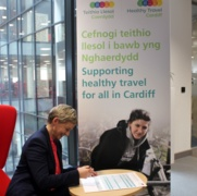 Public Health Wales supports Cardiff Healthy Travel Charter