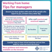 Home Working Guidance - Managers