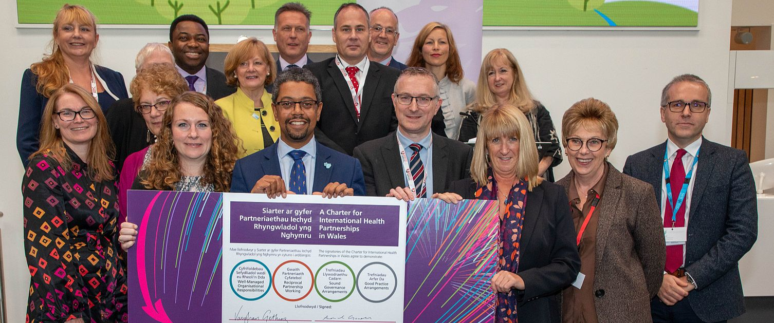 The Charter for International Health Partnerships in Wales Recommitment Ceremony