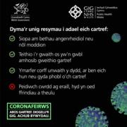 Stay at Home Save Lives Cymraeg 3