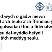 Business as usual Twitter asset - Welsh: 8