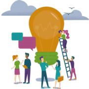 Bringing People Together (lightbulb gathering)