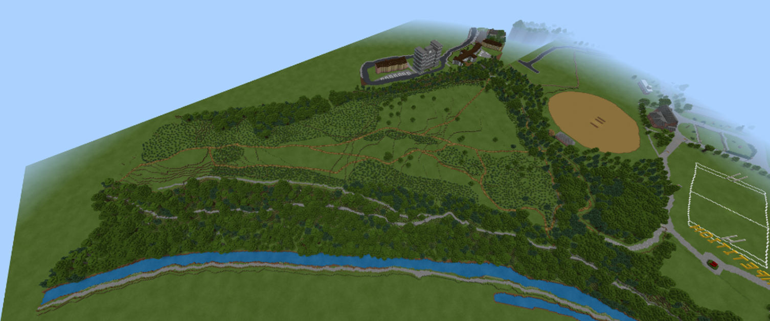 Minecraft competition aerial view