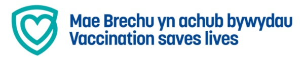 Vaccination saves lives logo (COVID related)