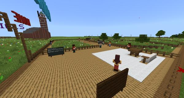Cymeriadau di-chwarae'r Byd Velindre Minecraft